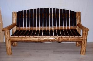 Canapé meuble bois décoration artisanal Bourgogne futstyl