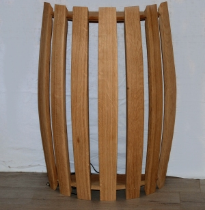 Applique luminaire bois decoration artisanal Bourgogne futstyl